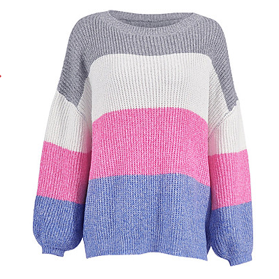 Color Block Women's Basic Pullover sweater