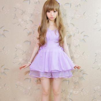 2014 Lavande Cute Lolita Chiffon Dress