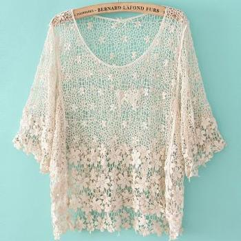 Sexy Fashion CROCHET HOLLOW SHIRT