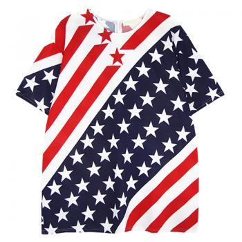 Unique American Flag Navy Short-Sleeved T-Shirt