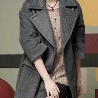 Gray Wool Coat Wool Jacket Women Jacket Winter Jacket Winter Coat Women Coat Spring Autumn