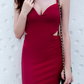 Fashion Sexy V-Neck Slim Dress