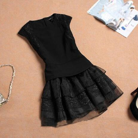 Lace Round Neck Dress
