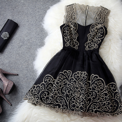 Sexy Lace Dress In Black