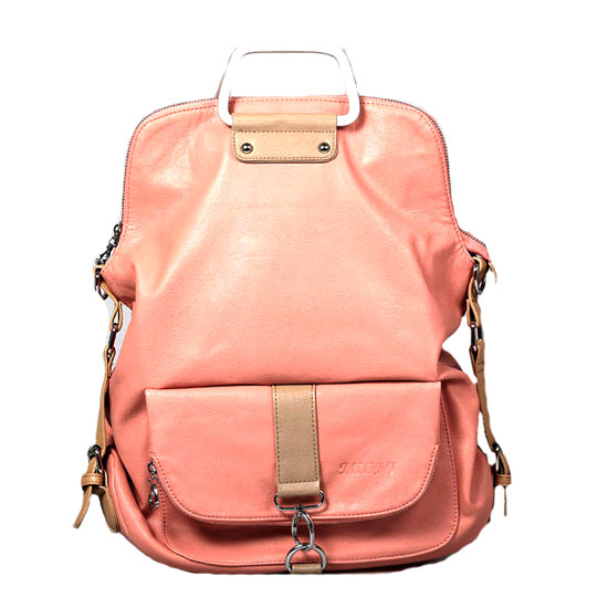 Fashion Pink Multifunction Backpack &Handbag for women girl