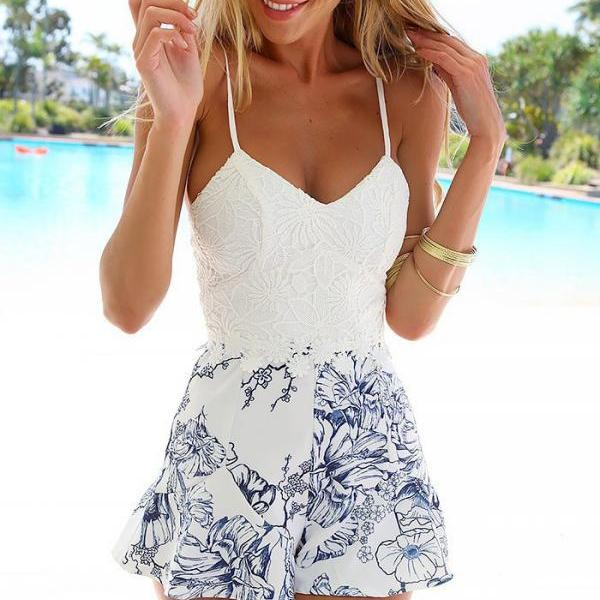 2015 women Fashion Sexy Suspenders Print Dress for hot summer