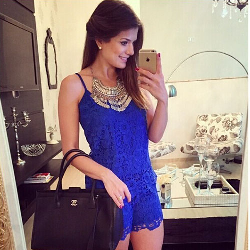 2015 women Fashion Solid Color Lace Sling Jumpsuit Shorts for hot summer
