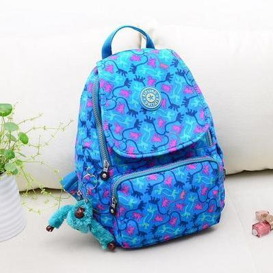 2015 fashion Travel Backpack Waterproof Nylon Shoulder Bag Handbag --Blue