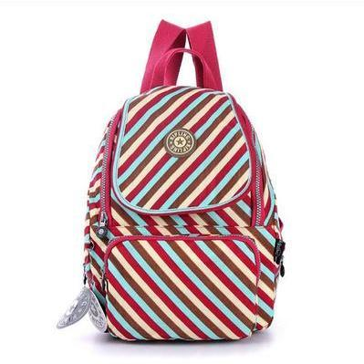 2015 fashion Waterproof Nylon Shoulder Bag Travel Backpack Handbags - Stripes