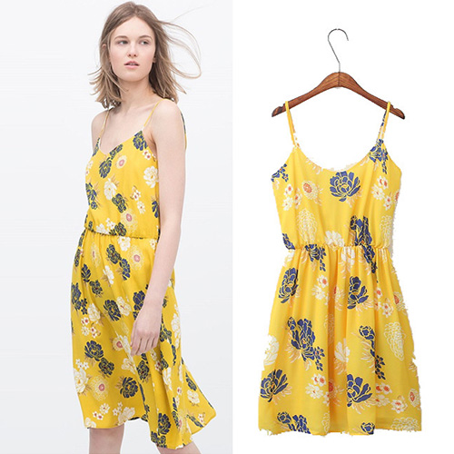 2015 summer sexy fashion Women'S European Style Bohemian Print Dress Dress