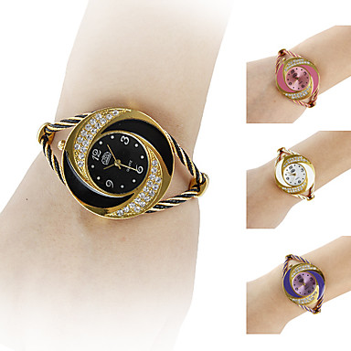 2015 new fashion Women's Watch Bracelet Whirlwind Circle Style Gold Alloy