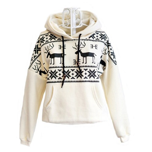 Hot sale Deer Hooded Sweatershirt For Women for women