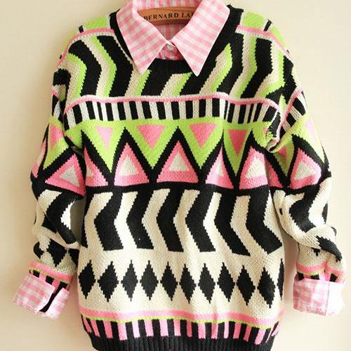 Hot sale Fashion Sweaters & Cardigans With Totem Geometry for women