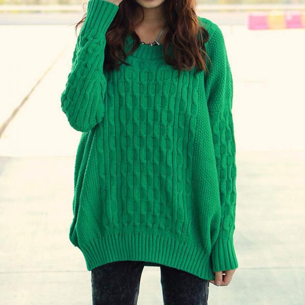 Hot sale Simple Loose Knitted Pure Sweater&Cardigan for women