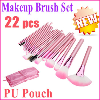 High Quality 22 Pcs Pink Makeup Brushes Set With Leather Bag 1S7RD1P2J76CZGB5Q1LFC 2Y5R6QY9XF7