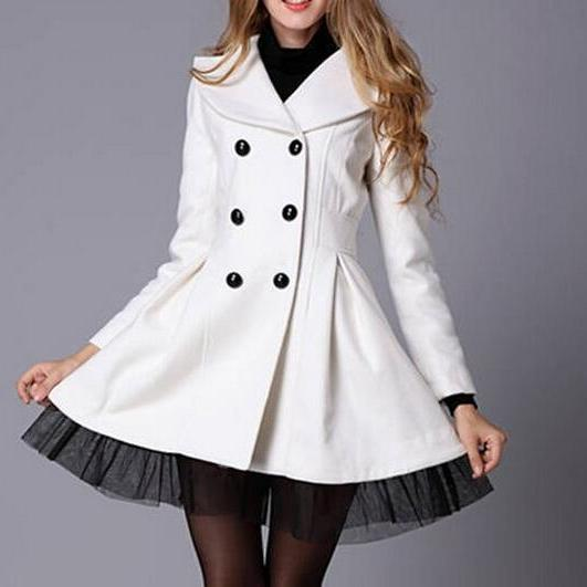 2015 Hot sale Double-Breasted Coat Wool Coat