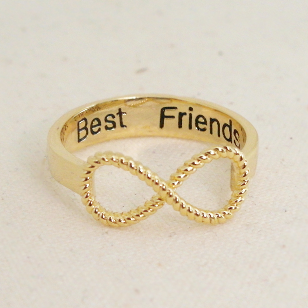 Best Friends Infinity Ring 6.5 Size In Gold Bff Ring