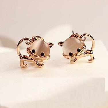 2015 new fashion Adorable Kitty Earrings