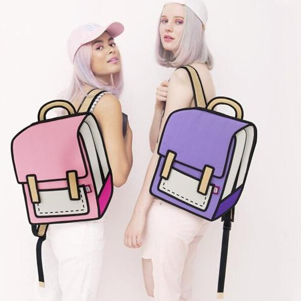 2016 New fashion women Anime 3D Backpack