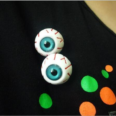 bloodshot eyes eyeball brooch