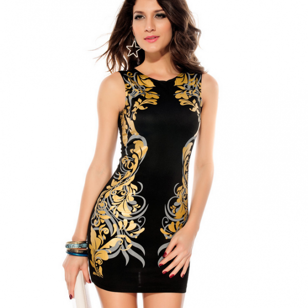 Sexy Slim print bodycon dress