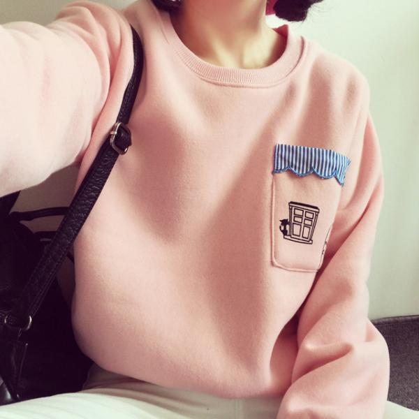 Free shipping cup embroidery wool hooded sweater #YYL-31