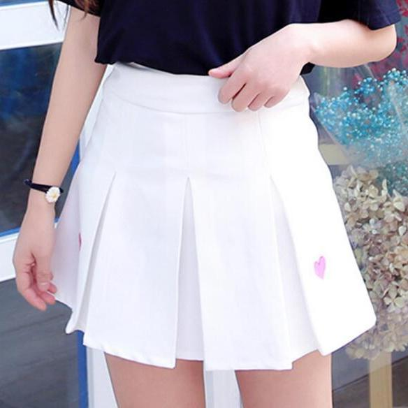 Sweet Heart A-line Pleated Skirt